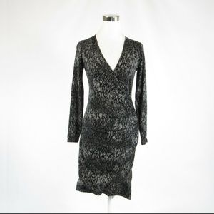 Banana Republic black gray stretch dress XS